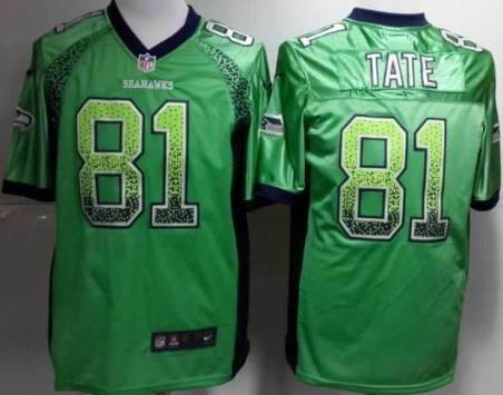 Nike Seattle Seahawks 81 Golden Tate Drift Fashion Green Elite NFL Jerseys