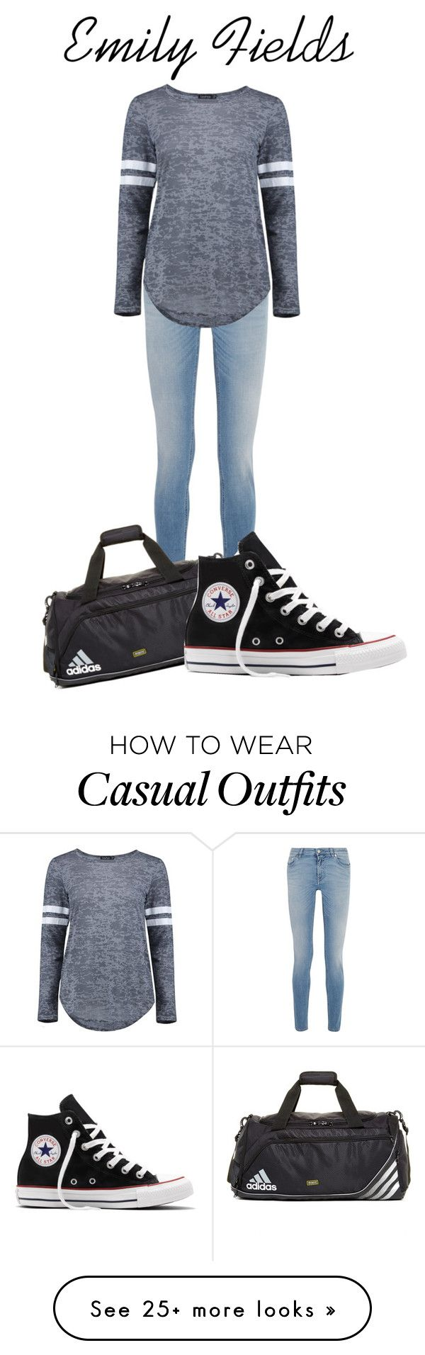 """Emily Fields: Casual"" by aquamarine03 on Polyvore featuring Givenchy, adidas, Converse and Boohoo"