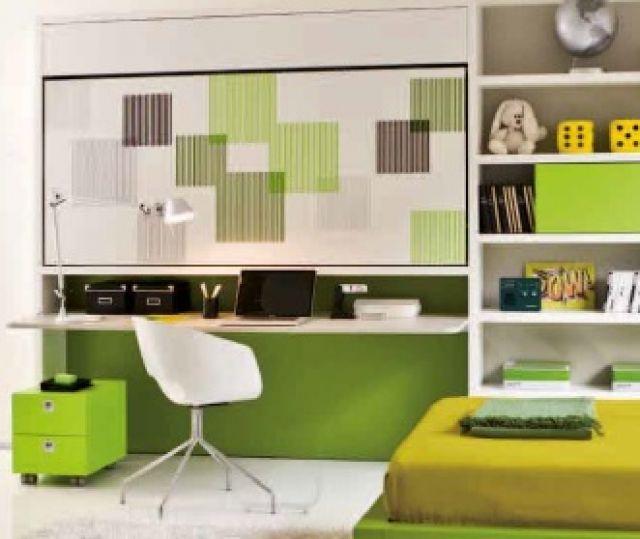 L'Abbiglialegno - Prodotti Dettaglio Letto semielevato orizzontale singolo con scrivania Lolli desk - Vendita Camere Ragazzi Roma - Arredamento Camera Ragazzi