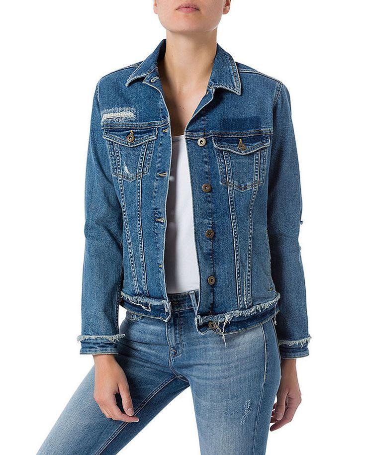 Cross Jeans® Jeansjacke mit ausgefranstem Saum Jetzt bestellen unter: https://mode.ladendirekt.de/damen/bekleidung/jacken/jeansjacken/?uid=698c7b3a-8683-58e7-ae66-b0f8ab95b726&utm_source=pinterest&utm_medium=pin&utm_campaign=boards #outdoorjacken #jeansjacken #bekleidung #jacken