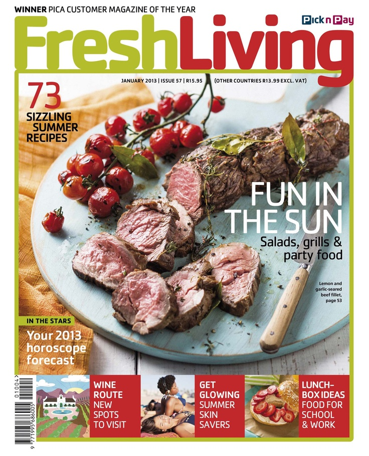 The magazine is available at all Pick n Pay stores nationwide for only R15.95.     #freshliving #PICA #recipe #magazine  ##picknpay #freshliving