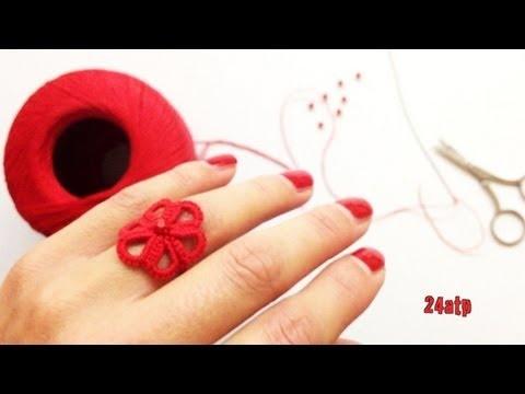 Chiacchierino Ad Ago - 5˚ Lezione Realizzazione di un Anello - Tutorial Come Fare Tatting