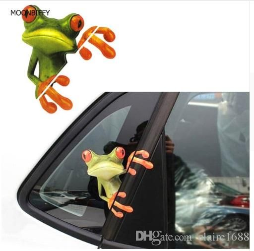 Essential 3D Peep Frogs Funny Car Stickers Truck Window Decal Graphics Sticker Decorative High temperature - $1.99