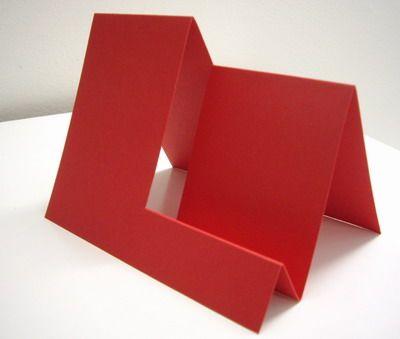 Step Fold Cards | Ribbon Border Bendy Fold Endless Card Step Card