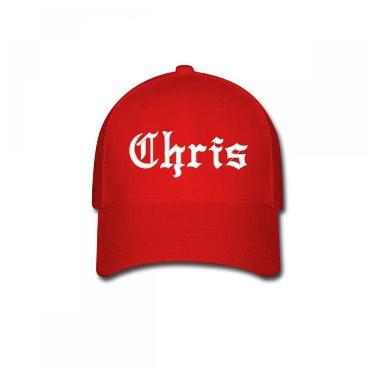chris name Baseball Cap