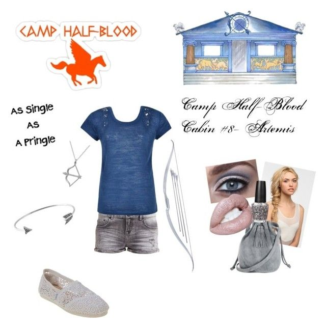 """""""Camp Half-Blood- Artemis Cabin"""" by panhead4life ❤ liked on Polyvore featuring LTB, Ally Fashion, Studio Silver, House of Harlow 1960, Pringle of Scotland, Eva NYC, Warehouse, OPI and TOMS"""