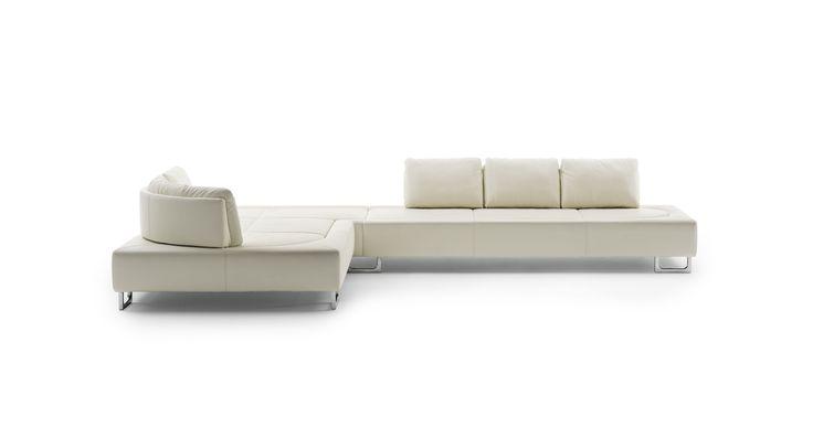 Divano d'angolo / modulare / moderno / in pelle - DS-165 by Hugo de Ruiter - de Sede AG
