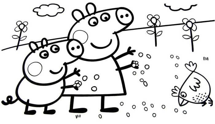 Printable Peppa Pig Coloring Pages Free Coloring Sheets Peppa Pig Colouring Peppa Pig Coloring Pages Cartoon Coloring Pages