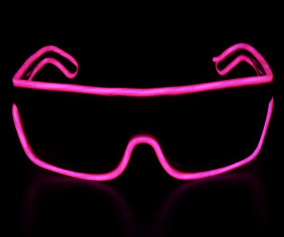 Powered, Glow in the Dark Sunglasses on Wanelo