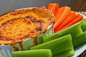 Buffalo Wing Dip with Carrots and Celery
