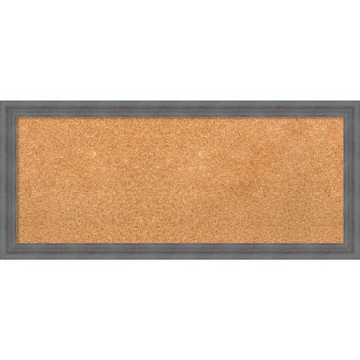 Amanti Art Framed Cork Board, Dixie Grey Rustic