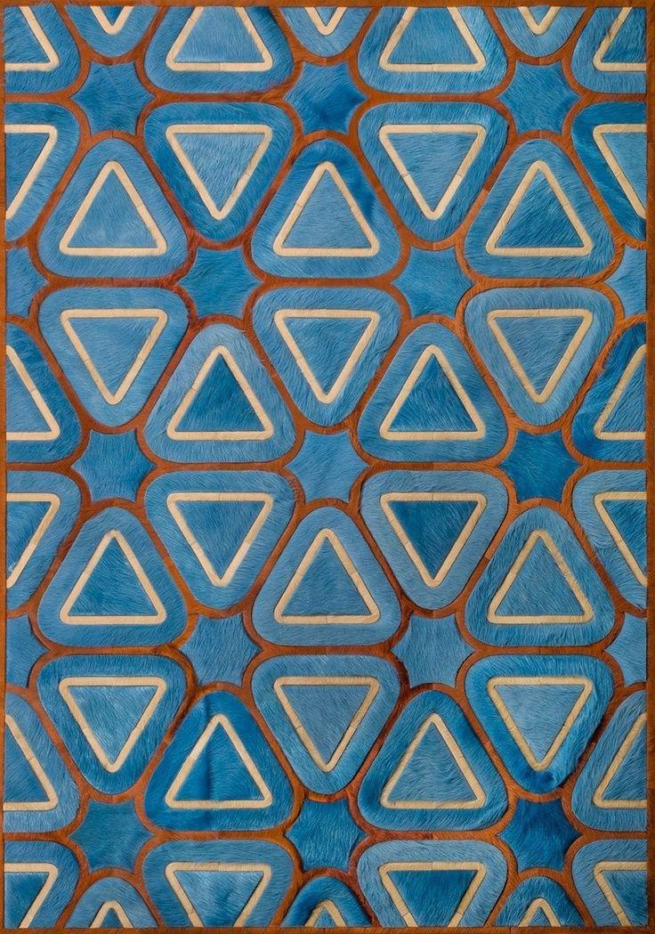 Triangle within Hexagon Textile