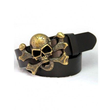 Cinto de couro em crânio elegante para homens , Saiba mais em : www.am-shopping.com  Por apenas  64.55 CHF ou  60.38 €  ( -30% Desconto ) Envio Grátis para todo o Mundo