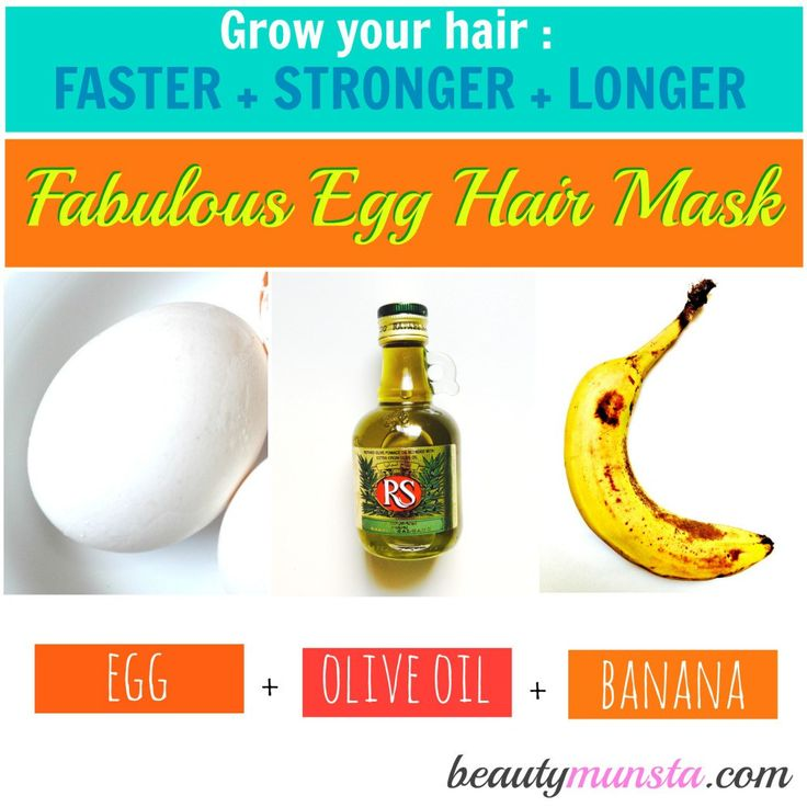 Combining the goodness of egg, olive oil and banana, this hair mask will nourish the hair follicles and prmote growth