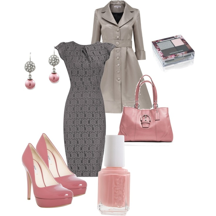 Grey and Pink - Polyvore