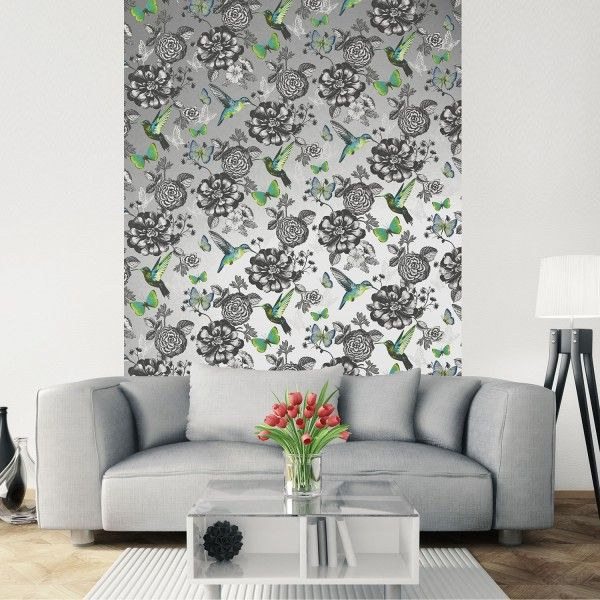 Utopia Silver Wallpaper | Feature Wall Wallpaper | Coloroll