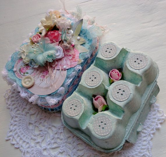 Egg-Carton Kit of Goodies by TeacupAndRoses on Etsy
