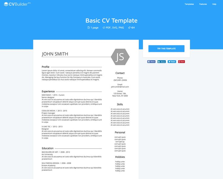 resume builder website templates and top best free charge online