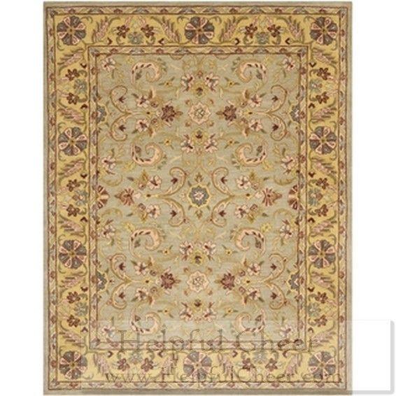 Safavieh Handmade Heritage Green Grey Gold Wool Rug 9 X27 6 X 13