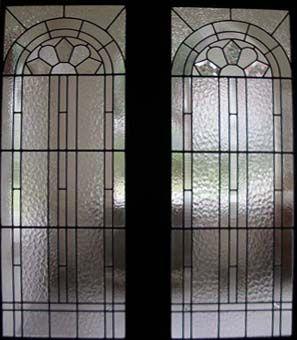 Art Deco Leadlight Glass Door
