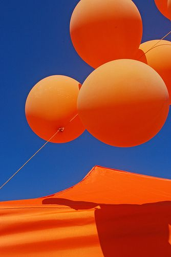 orange #balloons