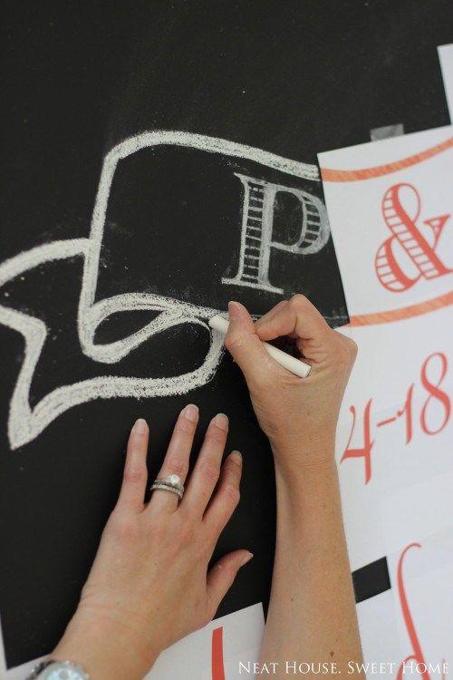 Chalkboard Lettering in 5 Easy Steps  #chalkboard https://www.mrsjonessoapbox.com/
