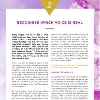 Rule #2 for Next Level Living: Recognise which voice is real. One of my favourite things to teach my clients is how to tune into your intuition and observe your thoughts without attaching to them. Have you ever thought to question if what your mind is telling you is real? Or true? Or if it's the best possible thought you can have? Because you have the power to choose in all moments. Life shifts gears when you get out of automatic mode and become a conscious creator. Yah, groovy stuff.