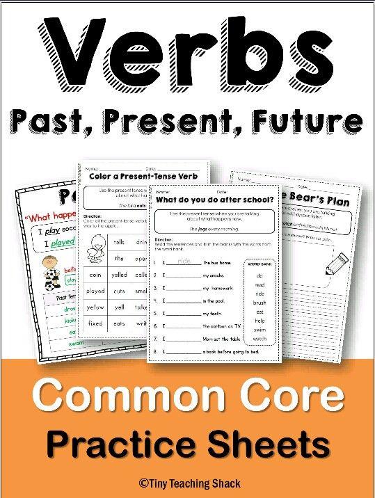Present, past, future tense verbs. Kindergarten, first ...
