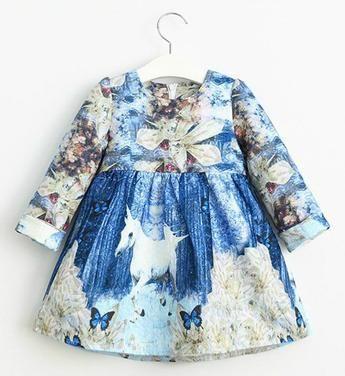 Girly Shop's Blue Long Sleeve Cheap Children Clothes