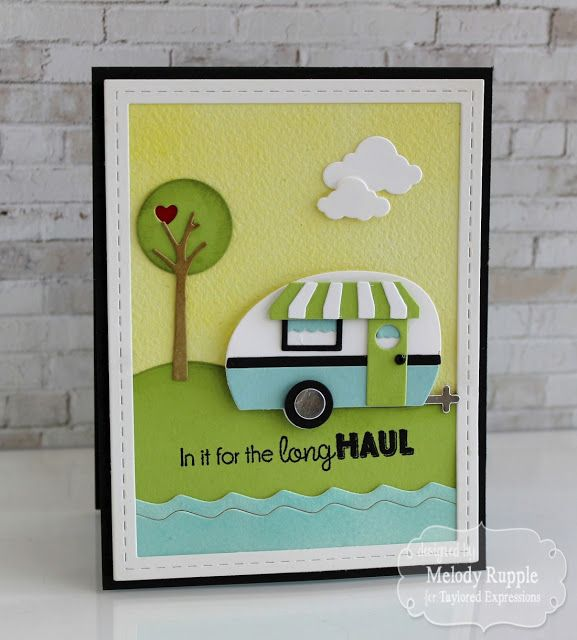 card camper camping travel journey holiday scene relax enjoy Are We There Yet? Handmade Cards Camper #tayloredexpressions