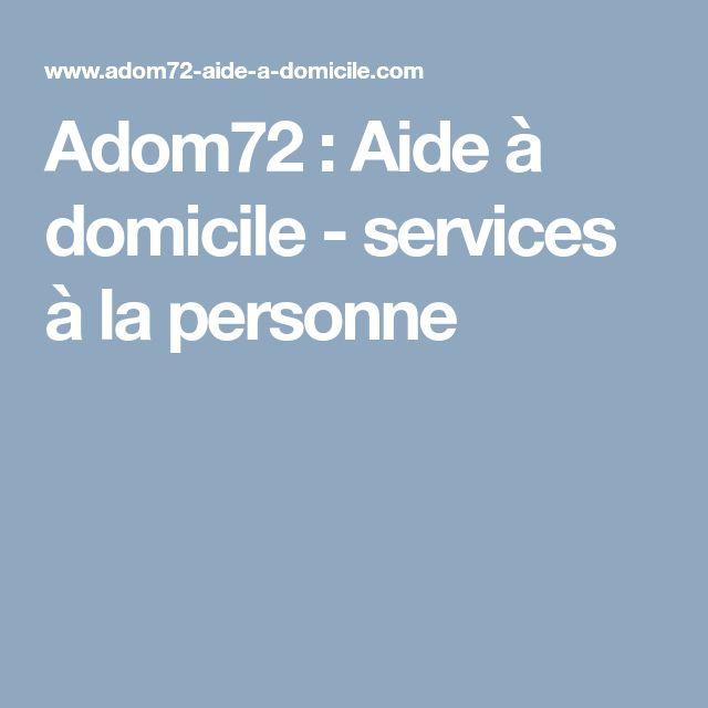 Adom72 : Aide à domicile - services à la personne