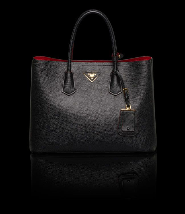 Prada double bag - black