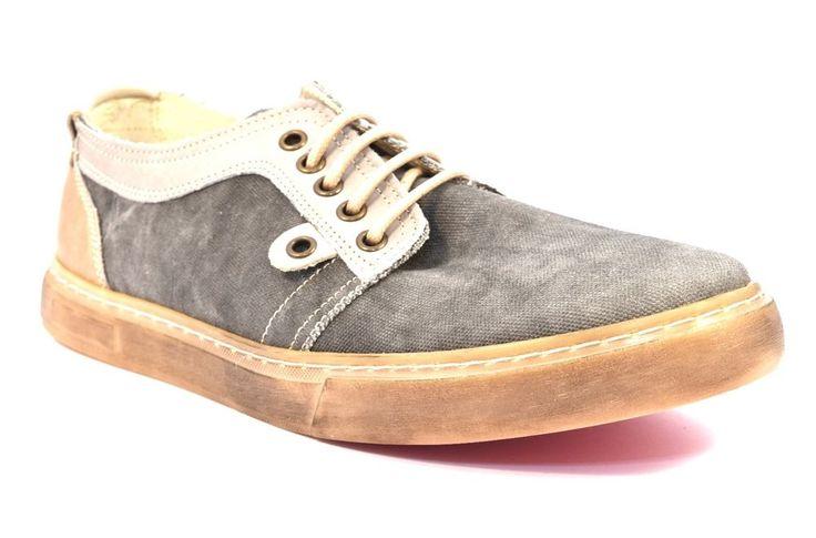 CAFè NOIR MQT923 016 GRIGIO Sneakers QT923 Uomo Scarpa Tessuto Estiva Cotone