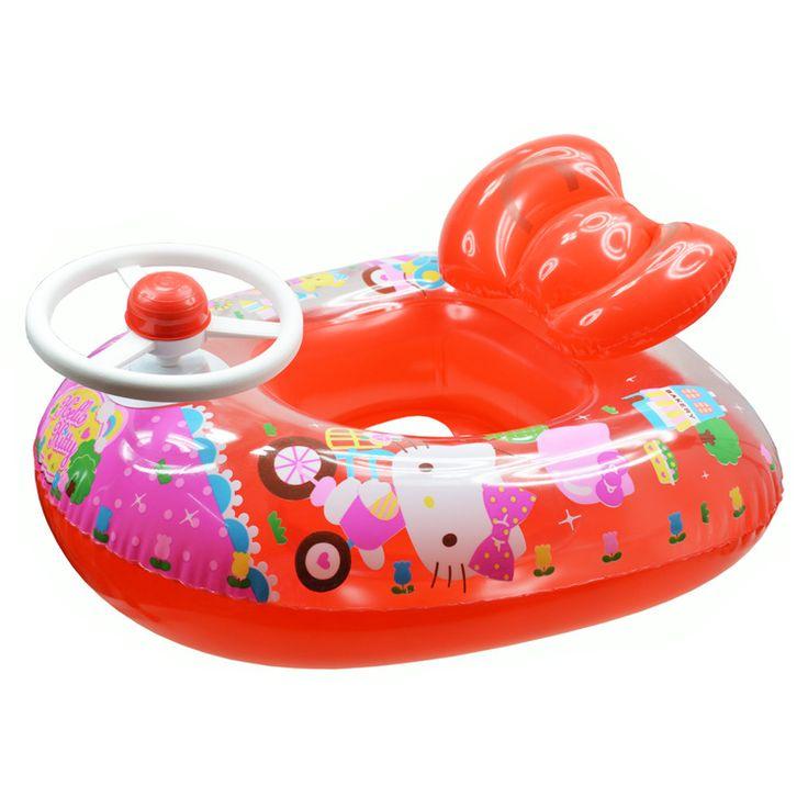 Американский бренд ребенок машина руль рог сидя поплавок плавание кольцо красный HELLO KITTY Кэти котенок - Taobao
