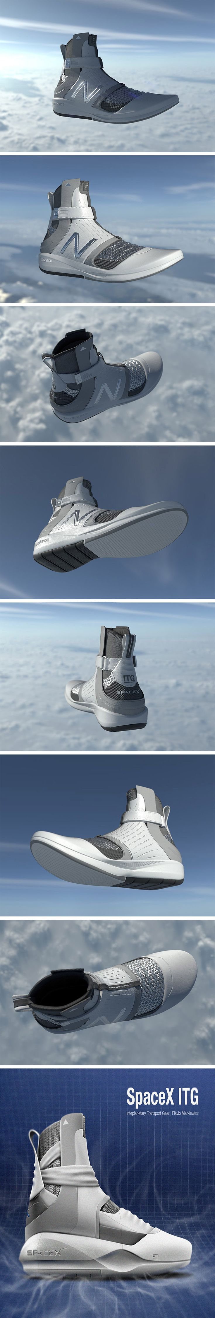 Props to Space X for launching the Falcon 9 during rush hour! It's got everyone here in Los Angeles re-interested in science! It's also the perfect time to talk about this otherworldly footwear design by Flávio Mankiewicz. Inspired by Space X with design cues from NASA, it's futuristic out-of-this-world style in old-school hightop sneaker style.