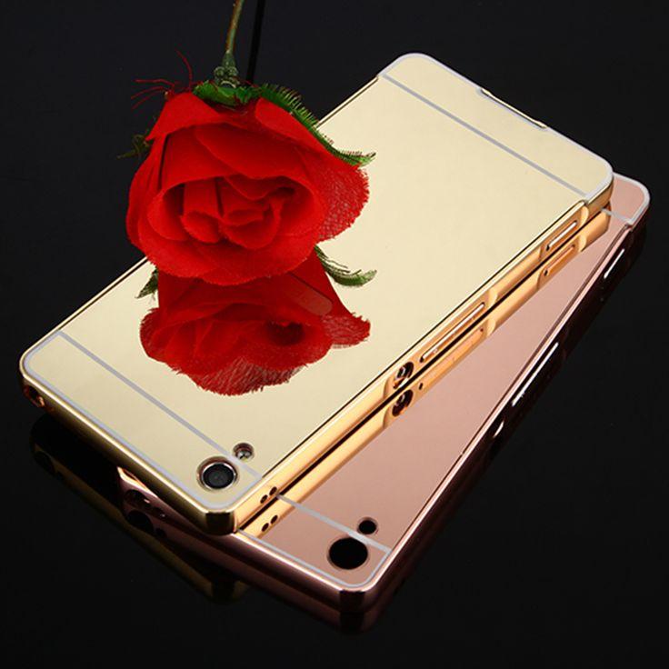 Luxury Metal Aluminum Frame + Mirror Acrylic Back Case For Sony Xperia XA Cases Sony XA Ultra Case X Perfomance Phone Cases p30