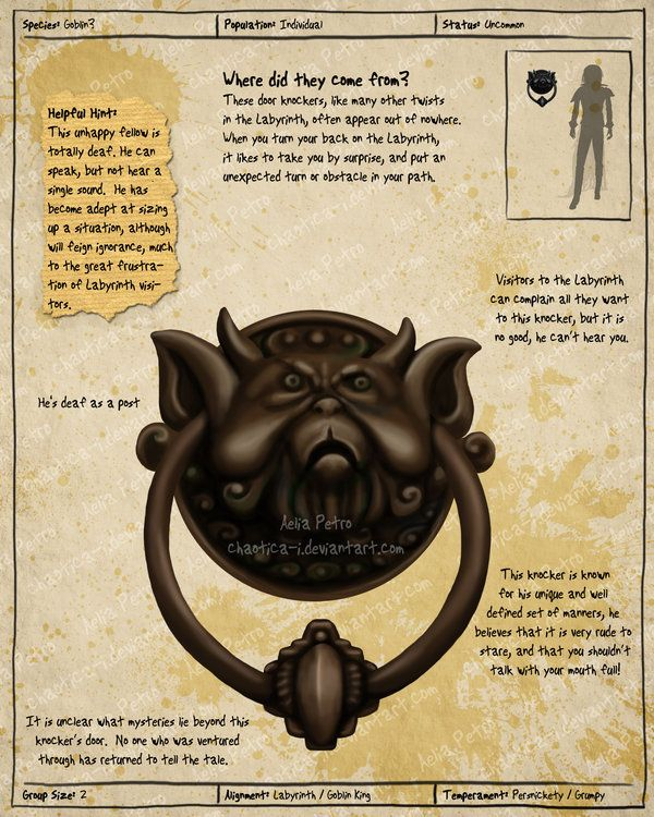 Labyrinth Guide Door Knocker 2 by =Chaotica-I on deviantART