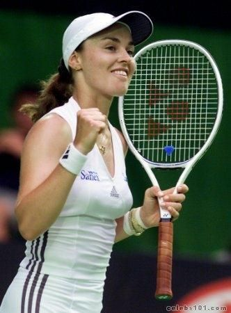Martina Hingis was the youngest person to win Wimbledon at 16 and my idol!