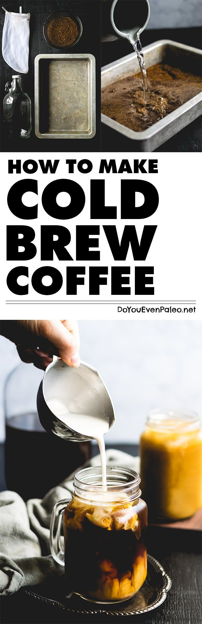 How to Make Cold Brew Coffee at Home - skip the cold brew coffee kit. You probably have everything you need to brew your own without a silly kit! | DoYouEvenPaleo.net