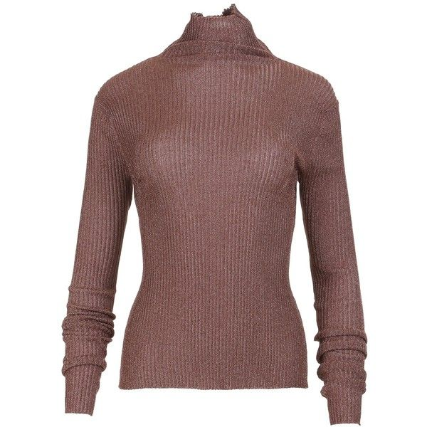 ... ❤ liked on Polyvore featuring tops, sweaters, cropped pullover sweater, brown sweater, brown crop top, crop top and ribbed turtleneck