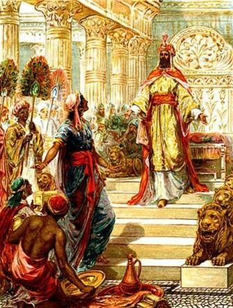 King Solomon of Israel wise and a very strong magician it is said he had the power to summon and banish spirits.