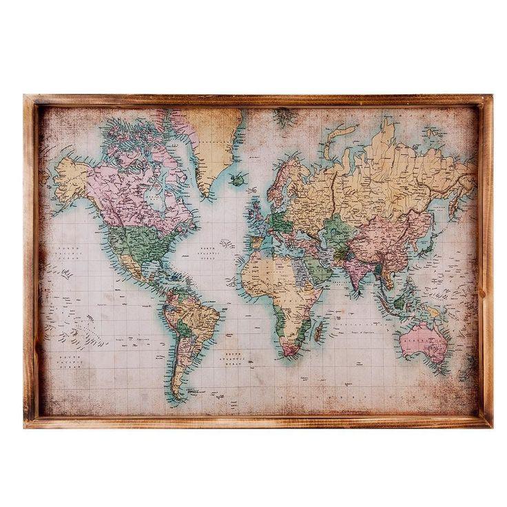 Cuadro mapamundi. #decoracion #deco #decor #home #homestyle #homedecor #decohome #cuadros #mapamundi #lavueltaalmundo #tiendadecoracion #laspalmas