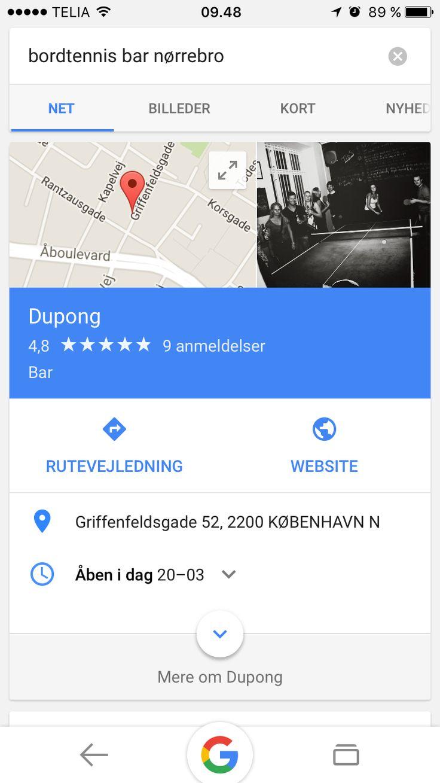 Bordtennis bar Nørrebro