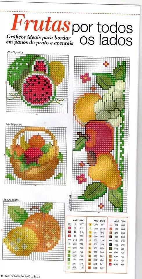 Frutas ponto cruz