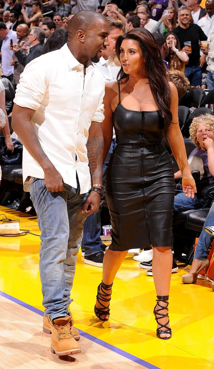 Kim Kardashian and Kanye West | Kim Kardashian and Kanye West attend a game between the Denver Nuggets ...