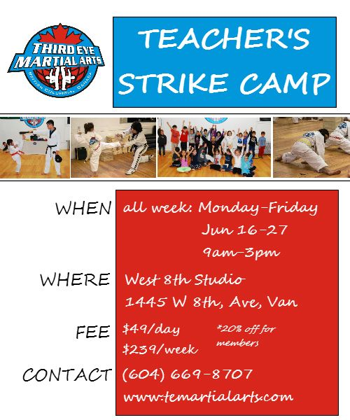 To all the parents who are frazzled due to the teacher's strike, we offer to help you out!  Everyone is welcome, members and non-members.