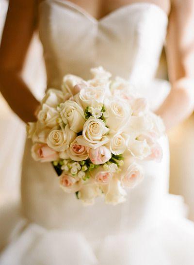Classic rose wedding bouquet