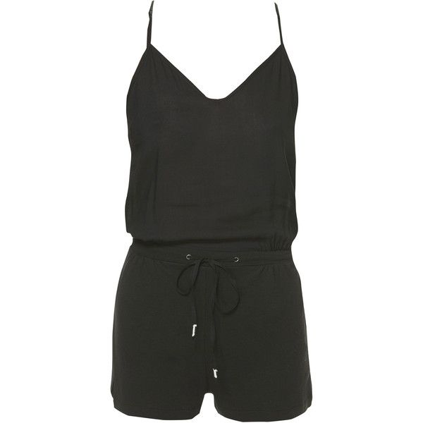 Zara Strappy Playsuit (6.495 CLP) ❤ liked on Polyvore featuring jumpsuits, rompers, romper, dresses, playsuits, shorts, navy blue, zara jumpsuit, zara romper and playsuit romper