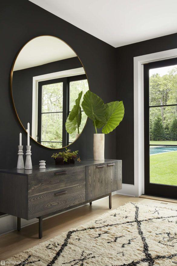 مرايات بأشكال وتصاميم مميزة وأنيقة مجلة موبيكان Modern Entryway Decor Contemporary Home Decor Decor