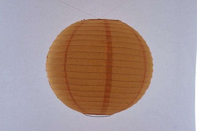 Lanterna di carta di riso da appendere, colore Arancione 30 cm, con gancio.